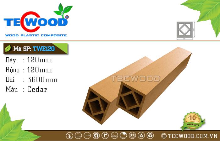 Trụ cột gỗ nhựa TWE120-Cedar