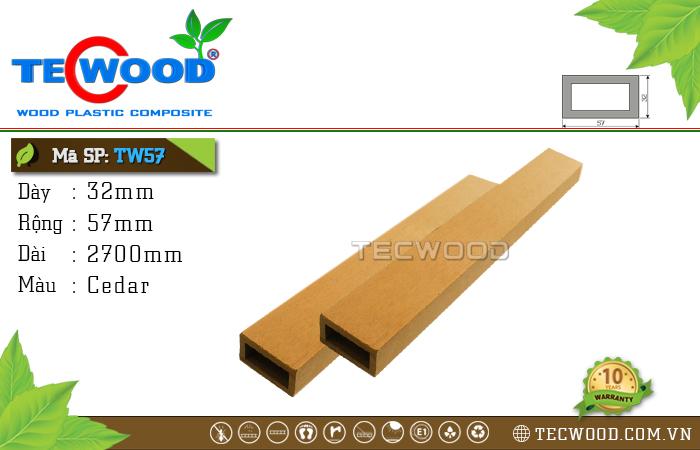 Thanh gỗ nhựa TW57 Cedar