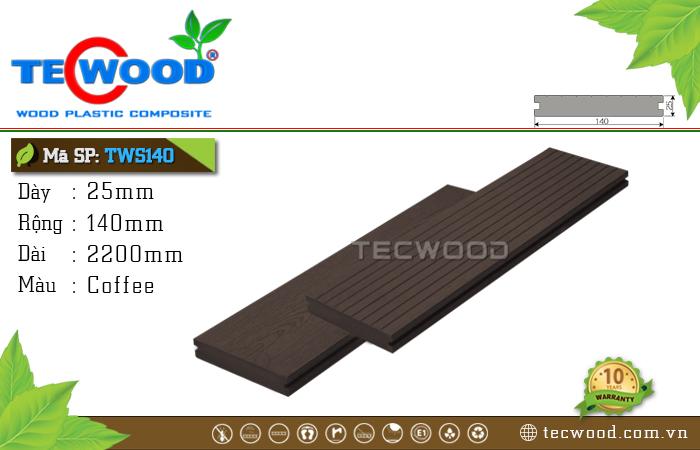 Sàn gỗ TecWood Thanh Đặc TWS140-Coffee