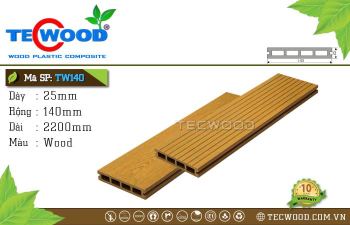 Sàn gỗ TecWood lỗ vuông TW140-Wood