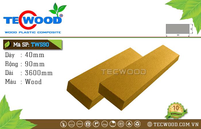 Thanh lam gỗ nhựa TWS90 Wood