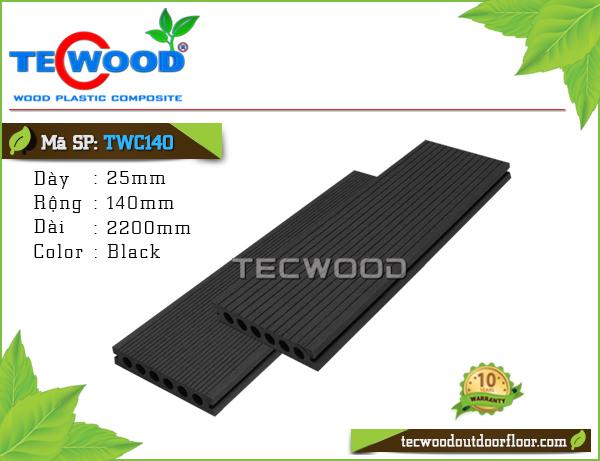 Sàn gỗ TecWood lỗ tròn TWC140 - Black