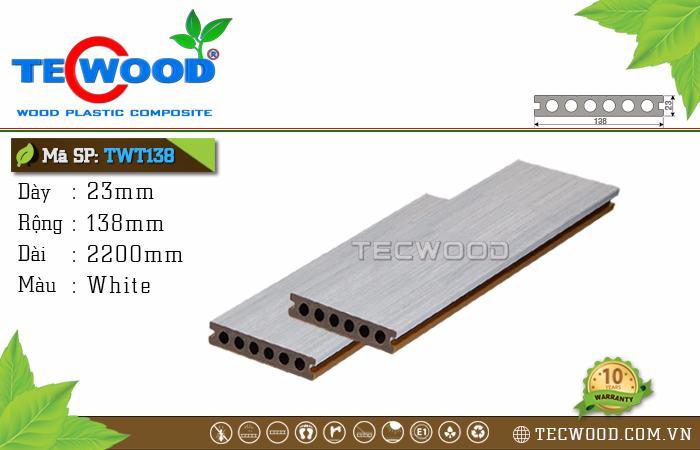 Sàn gỗ cao cấp TecWood TWT138 - White