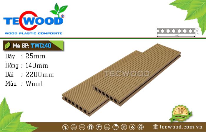Sàn gỗ TecWood lỗ tròn TWC140-Wood