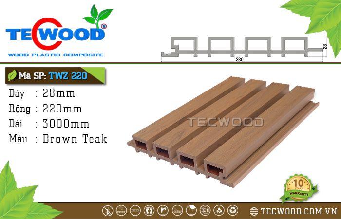 Tấm ốp tường TWZ220 - Brown Teak