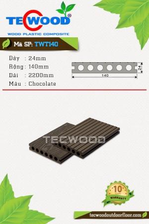 Sàn gỗ ngoài trời TecWood TWT140 Chocolate