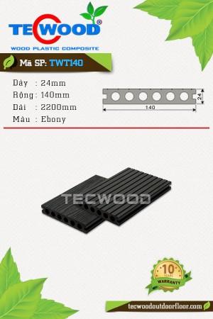 Sàn gỗ ngoài trời TecWood TWT140 Ebony