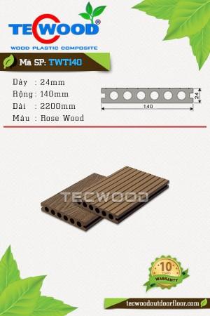 Sàn gỗ ngoài trời TecWood TWT140 Rose Wood