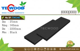 Sàn gỗ TecWood lỗ tròn TWC140 - Gray