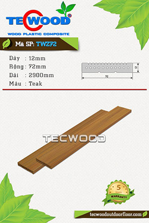 Thanh lam gỗ nhựa TWS72 Teak