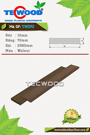 Thanh lam gỗ nhựa TWS72 Walnut