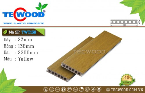 Sàn nhựa ngoài trời TecWood TWT138 - Yellow