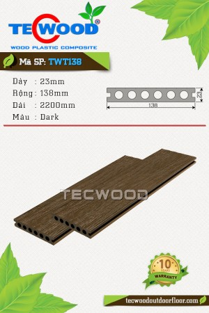 Sàn gỗ nhựa TecWood TWT138 - Dark