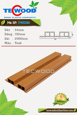 Tấm ốp gỗ nhựa TWZ192 - Teak
