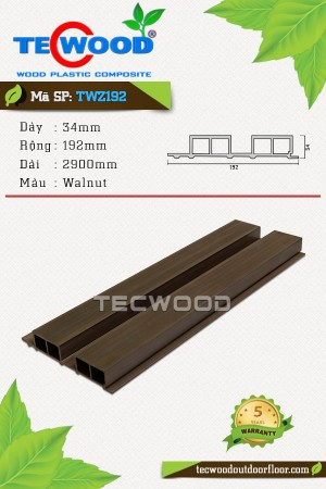 Tấm ốp gỗ nhựa TWZ192 - Walnut