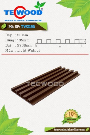 Tấm ốp gỗ nhựa trong nhà TWZ195 Light Walnut
