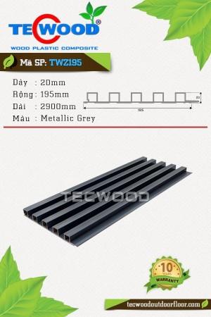Tấm ốp gỗ nhựa trong nhà TWZ195 Metallic Grey