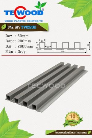 Tấm Ốp Tường TecWood TWZ200 Grey (30x200x2900mm)