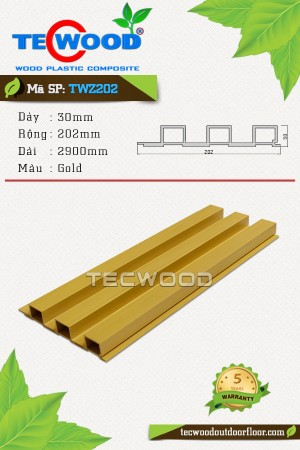 Tấm ốp gỗ nhựa TWZ202 - Gold
