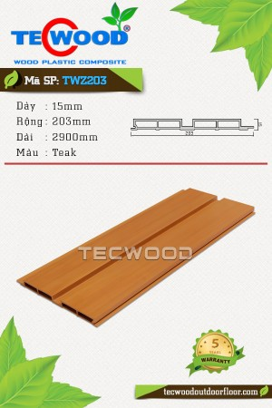 Tấm ốp gỗ nhựa TWZ203 - Teak