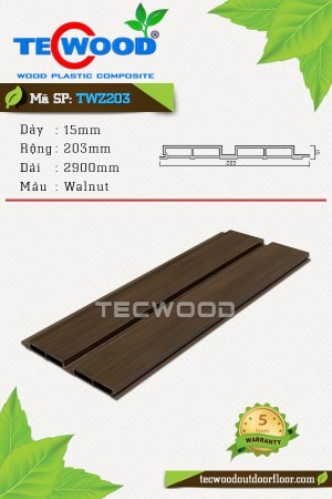 Tấm ốp gỗ nhựa TWZ203 - Walnut