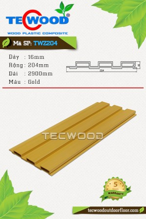 Tấm ốp gỗ nhựa TWZ204 - Gold