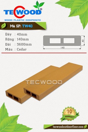 Thanh lam gỗ nhựa TW40 - Cedar