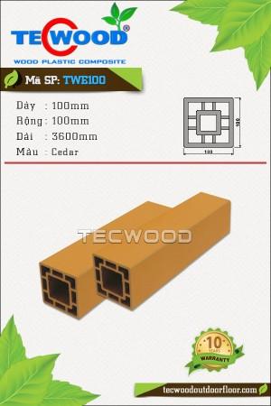 Trụ cột gỗ nhựa TecWood TWE100-Cedar