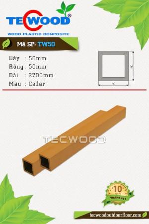 Thanh lam gỗ nhựa TW50 Cedar