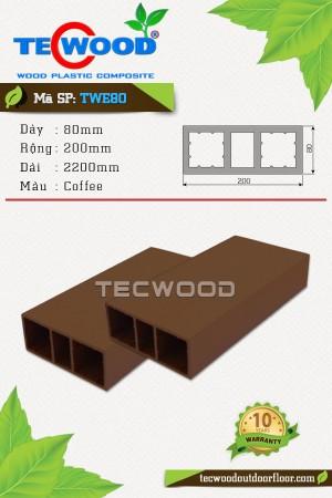 Trụ cột gỗ nhựa TecWood TWE80-Coffee