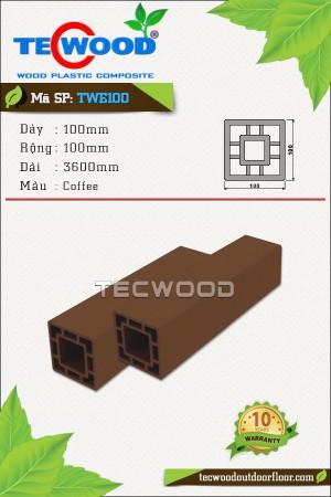Trụ cột gỗ nhựa TecWood TWE100-Coffee
