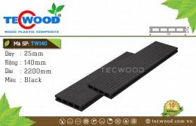Sàn gỗ TecWood Lỗ Vuông TW140-Black