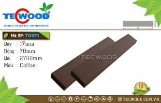 Thanh lam gỗ nhựa TWS70 Coffee