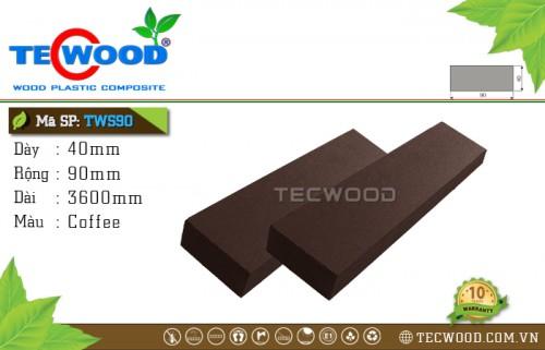 Thanh lam gỗ nhựa TWS90 Coffee