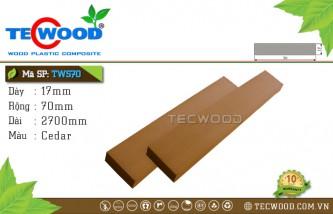 Thanh lam gỗ nhựa TWS70 Cedar