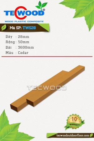 Lam gỗ nhựa TWS28 cedar