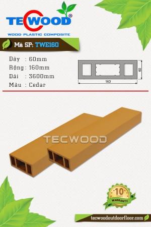 Thanh lam gỗ nhựa TWE160 Cedar