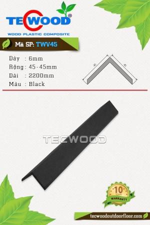 Nẹp chữ V TWV45 - 6x45x2200mm - Màu Black