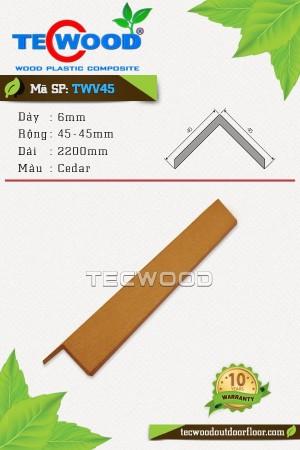 Nẹp chữ V TWV45 - 6x45x2200mm - Màu Cedar