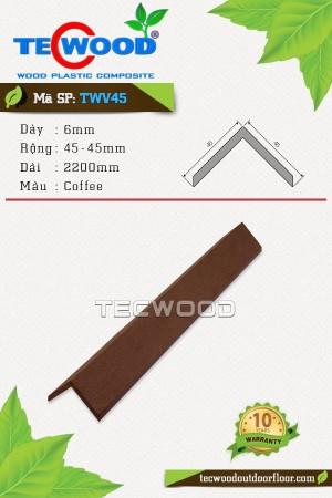 Nẹp chữ V TWV45 - 6x45x2200mm - Màu Coffee
