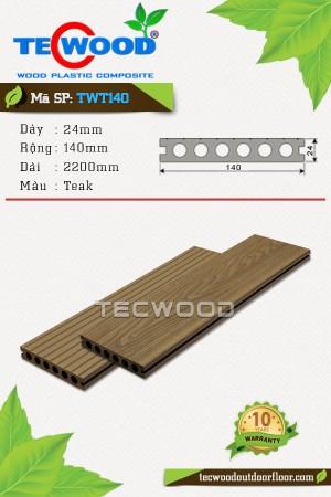 Sàn gỗ ngoài trời TecWood TWT140-Teak