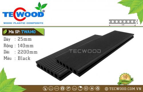 Sàn gỗ nhựa ngoài trời TecWood TWA140 Black