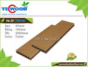 Sàn gỗ TecWood lỗ tròn TWC140-Cedar