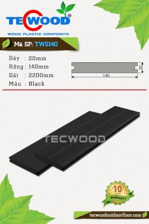 Sàn gỗ TecWood thanh đặc TWS140-Black