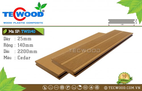 [New 2018] Sàn gỗ ngoài trời TWS140