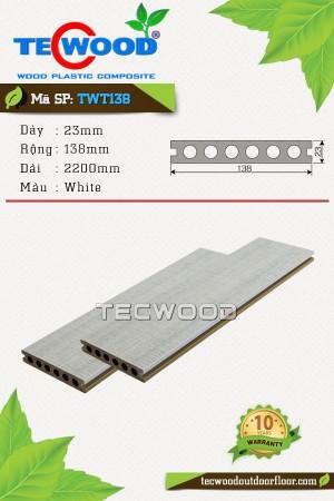 Sàn gỗ nhựa ngoài trời TWT138 - White