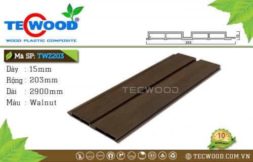 Tấm ốp gỗ nhựa TWZ203 - Walnut