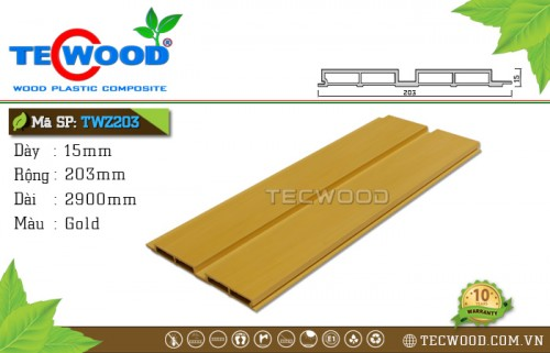 Tấm ốp gỗ nhựa TWZ203 - Gold