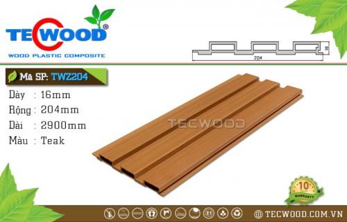 Tấm ốp gỗ nhựa TWZ204 - Teak
