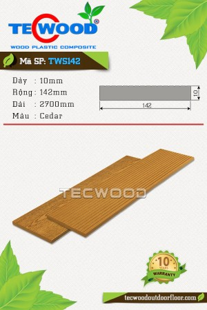 Tấm ốp gỗ nhựa TWS142 Cedar